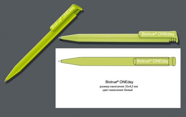 Ручка с нанесением логотипа. Biotrue ONEday